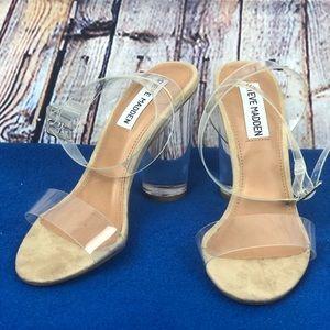 Steve Madden clear heels size 5M